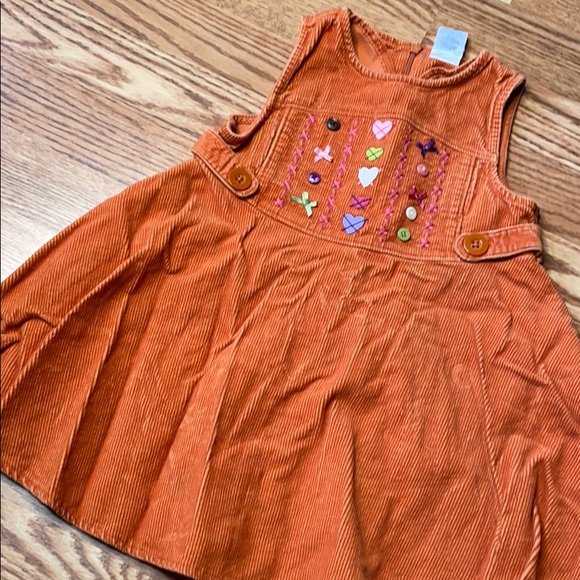 ❤️5/$13 orange corduroy jumper dress